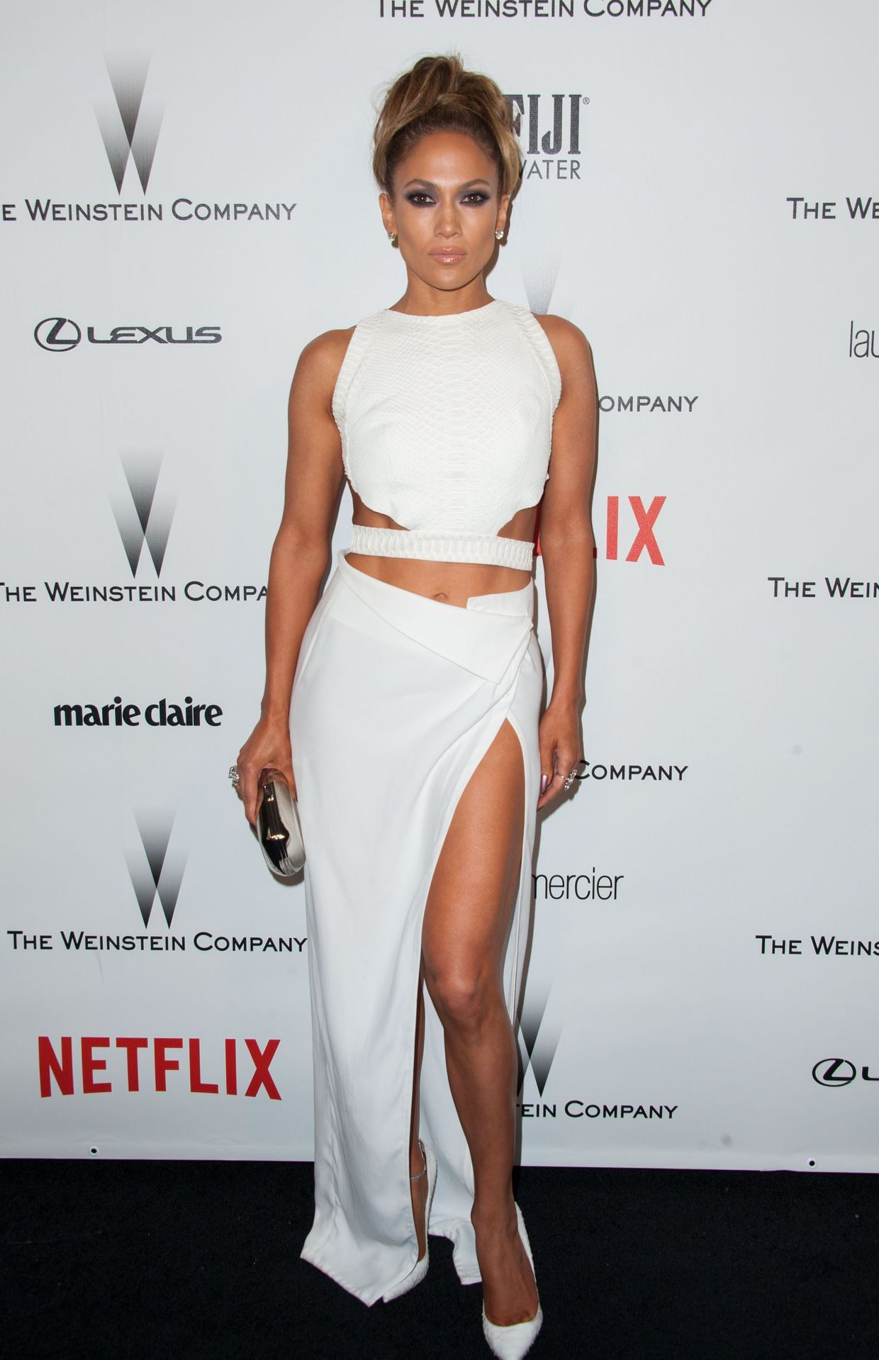 Vestido Amanda Wakeley na after-party dos Golden Globes de 2015 do Netflix