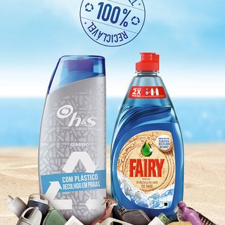 Fairy e h&s limpam as praias