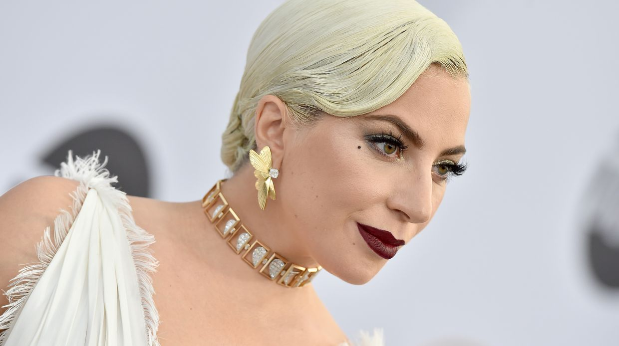 Lady Gaga na chegada aos Screen Actors Guild Awards
