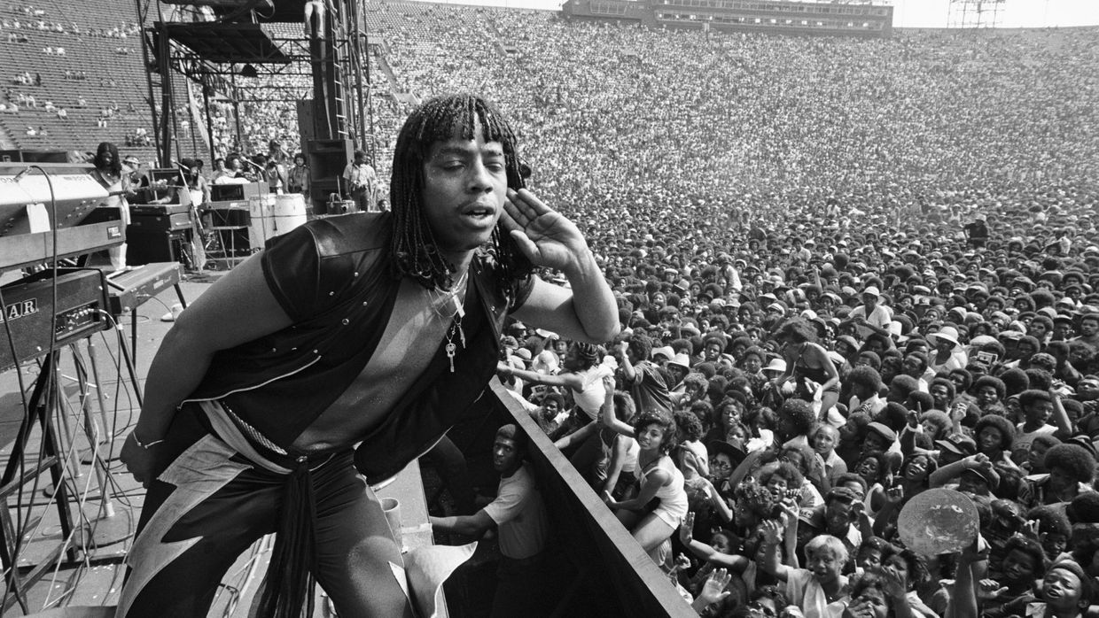 Rick James no Funk Festival, Los Angeles Coliseum, 1977