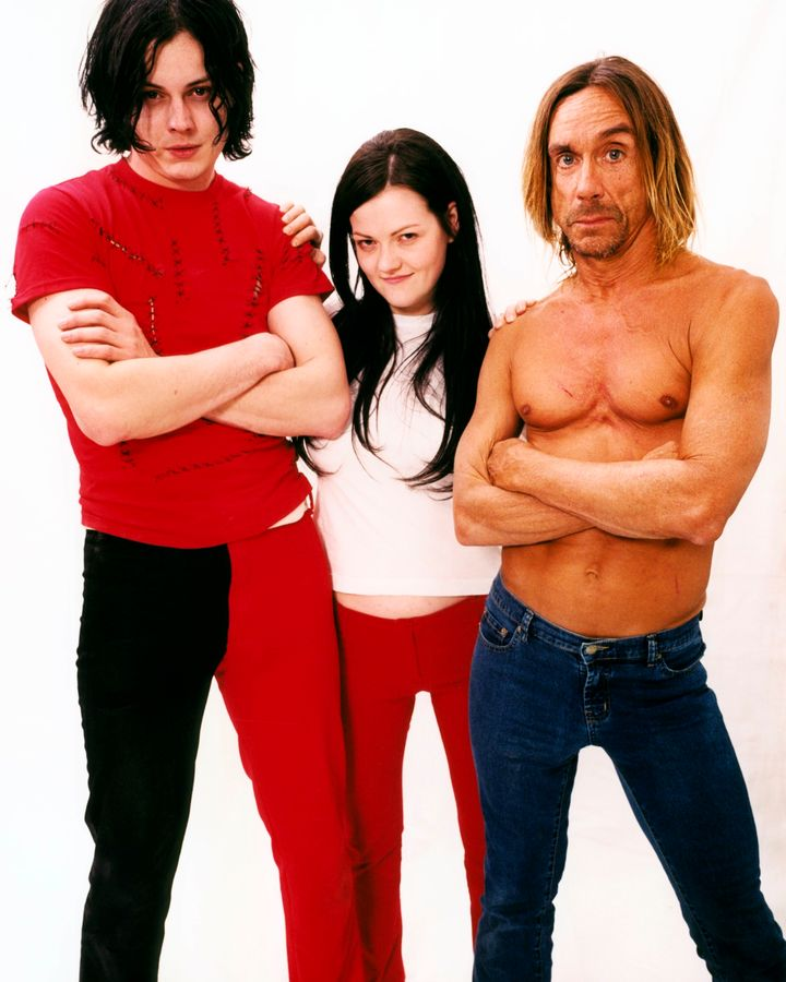 White Stripes & Iggy Pop em 2003