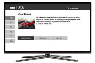 Kia lança stand virtual para Smart TV