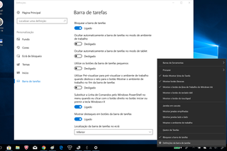 Como personalizar a barra de tarefas do Windows 10