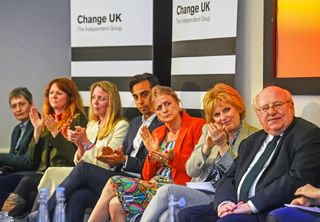 "A equipa do Change UK que quer tornar estas europeias num segundo referendo ao Brexit <span class=""creditofoto"">Foto Kirsty O'Connor / PA / Getty</span>"