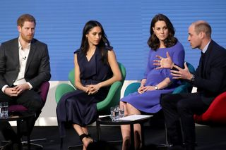 Harry, Meghan Markle, Kate Middleton e William