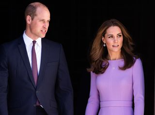 O príncipe William de Inglaterra e Catherine Middleton