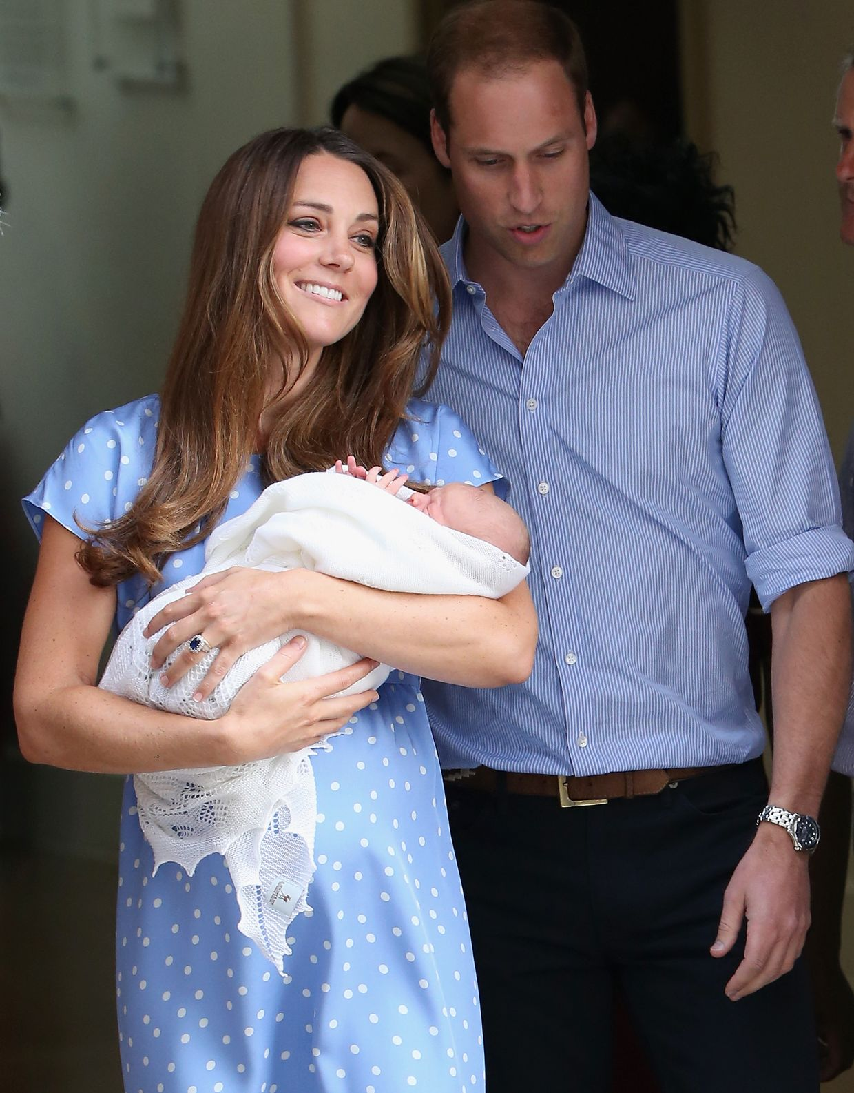 Kate Middleton, William e o príncipe George