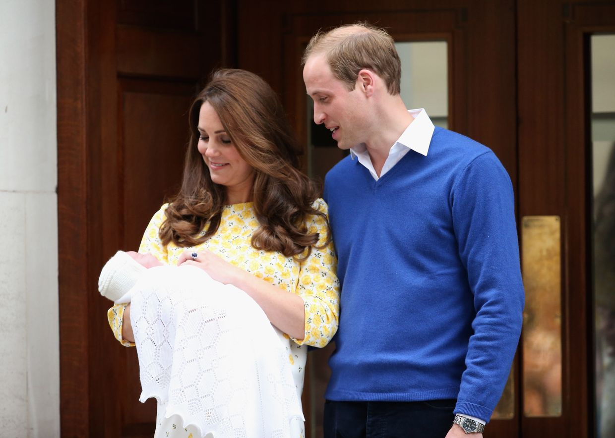 Kate Middleton, William e Charlotte