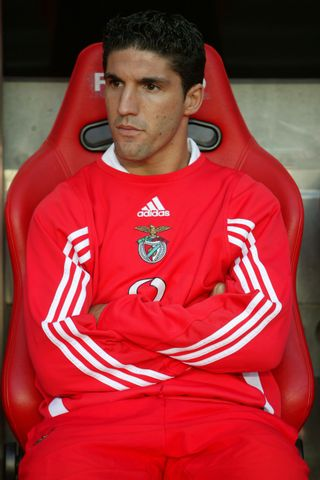 Bruno Aguiar no banco do Benfica