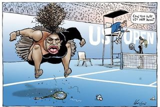 "Cartoon polémico de Serena Williams ""não é racista"""