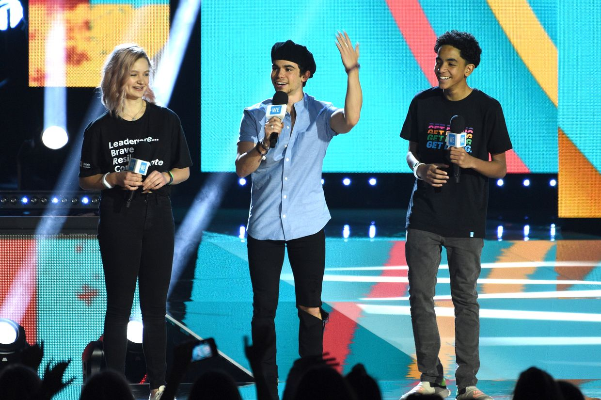 Durante o WE Day California em abril de 2019