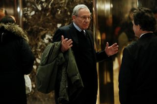 Bob Woodward na Trump Tower, NY, 2017