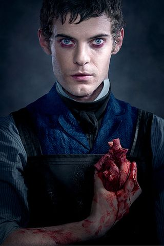 Harry Treadway no papel do Dr. Victor Frankenstein