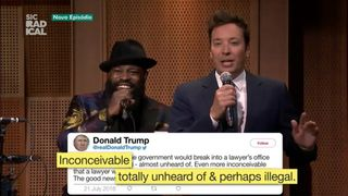 Jimmy Fallon transforma tweets de Trump em rap
