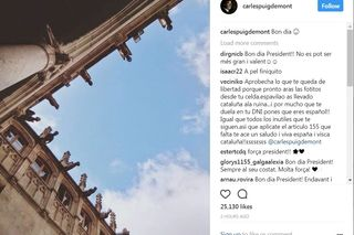 Puigdemont publica no Instagram fotos do interior da sede do governo