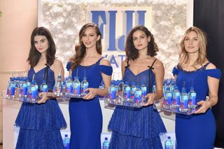 Kelleth Cuthber, again, with some colleagues who worked for Fiji Water in the Golden Globes