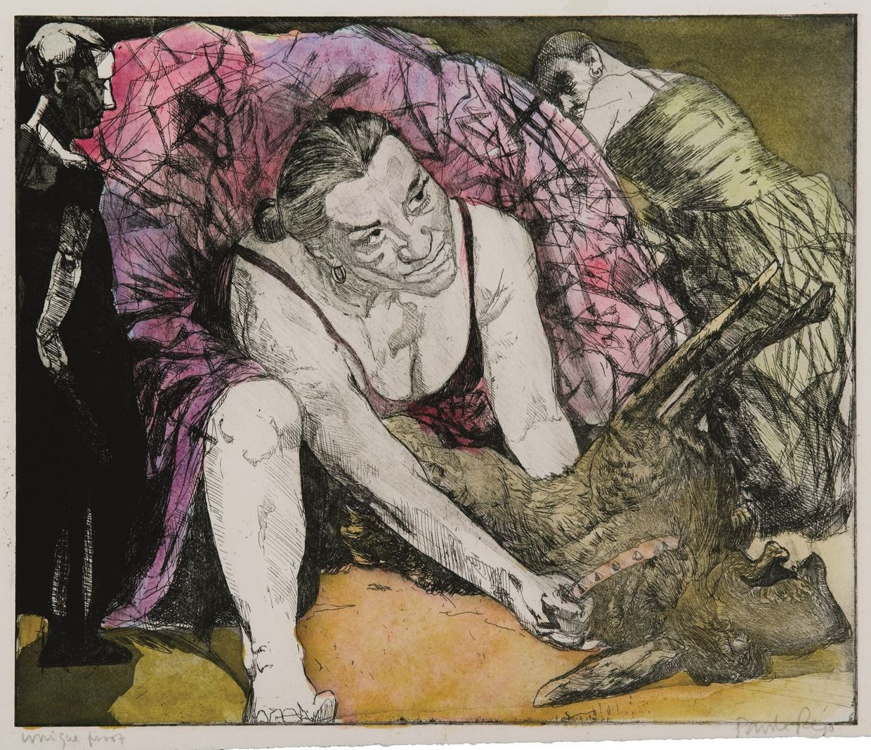 Two Women Eviscerating a Dog (1996), de Paula Rego